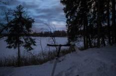 Talveöö tõukekelgumatk Otepää Pühajärve lumistel radadel