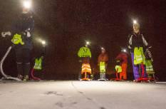 Talveõhtu tõukekelgumatk Otepääl, Pühajärve jääl või lumerajal